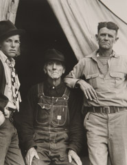 Dorothea Lange  -  Three generations of Texans, now drought refugees, 1935 / Silver Gelatin Print  -  8 x 10