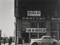 Dorothea Lange  -  Japanese Owned Grocery Store, Oakland, CA, March 30, 1942 / Silver Gelatin Print  -  9.25 x 13