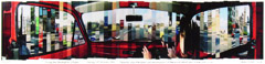Stephen Lawson  -  Driving from Edinburgh to Glasgow / Chromogenic Print (collage)  -  36 x 10