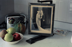 Vivian Maier  -  Evanston, IL, October 1975, (kitchen counter still life) / Chromogenic Print  -  10 x 15 on 16 x20 paper