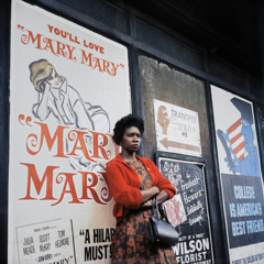 Vivian Maier  -  Chicago, 1962, (Woman, Mary Mary poster) / Chromogenic Print  -  12 x 12 on 16 x20 paper