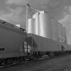 Mark Maio  -  Grain Elevator, Brooks Kansas / Carbon Pigment Print  -  10 x 10