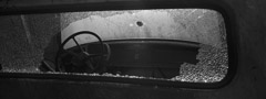 Mark Maio  -  Freedom Rider, Little Yazoo, Mississippi, 1999 / Carbon Pigment Print  -  6 x 16