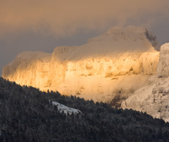 Tom Murphy  -  Amphitheater Mountain Winter Sunset / Color Pigment Print  -  Available in multiple sizes