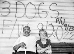 Thomas Neff  -  Altheus and Bernadine Banks, Central City, New Orleans, May 12, 2006 / Silver Gelatin Print  -  20 x 24