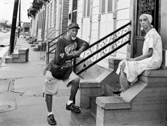 Thomas Neff  -  Norman and Dolores Williams, St. Bernard Avenue, Seveth Ward, October 3, 2005 / Silver Gelatin Print  -  16 x 20