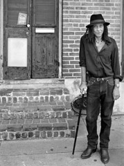 Thomas Neff  -  Pete Hart, the Only Left Handed Witch in the French Quarter, September 29, 2005 / Silver Gelatin Print  -  16 x 20