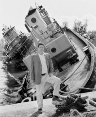 Thomas Neff  -  Scott Cooper, President, Crescent Towing, Algiers Point, October 20, 2005 / Silver Gelatin Print  -  16 x 20