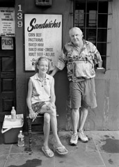 Thomas Neff  -  Susie Chenevert and Joseph Bode, Evelyn's Place, Chartres Street, French Quarter, September 17, 2005 / Silver Gelatin Print  -  20 x 24