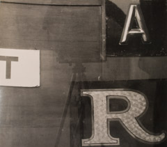 Arnold Newman  -  Letters, NY, NY, 1941 / Silver Gelatin Print  -  8 x 8.5