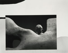 Arnold Newman  -  Henry Moore, Much Hadham, England, New York, 1947-66 / Silver Gelatin Print  -  9.75 x 12.5