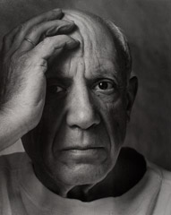 Arnold Newman  -  Pablo Picasso, Vallauris, France, 1954 / Silver Gelatin Print  -  13 X 10