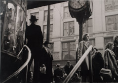 Arnold Newman  -  Philadelphia, PA, 1938 (Crowd under Clocks) / Silver Gelatin Print  -  11 x 14