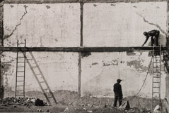 Arnold Newman  -  Wall and Ladders, Philadelphia. PA, 1939 / Silver Gelatin Print  -  11 x 14