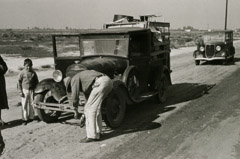 Rondal Partridge  -  Broke Down Car, Near Fresno, CA, 1930's / Silver Gelatin Print  -  6 x 9.5