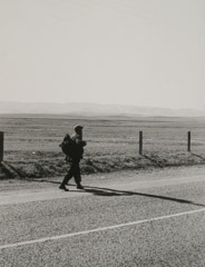 Rondal Partridge  -  On the Road, Circa, 1930's / Silver Gelatin Print  -  9.5 x 7.5