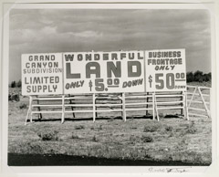 Rondal Partridge  -  Wonderful Land / Silver Gelatin Print  -  7 .25 x 9.5