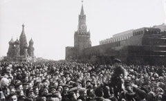 Alexander Ustinov  -  Victory Day on Red Square, May 9, 1945 / Silver Gelatin Print  -  14.5 x 24