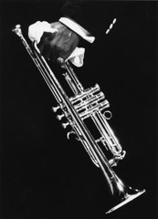 Herb Snitzer  -  Louis Armstrong trumpet and handkerchief, 1960 / Silver Gelatin Print  -  11 x 14