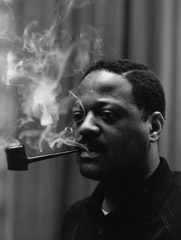 Herb Snitzer  -  Trumpet player Clark Terry, NYC, 1959 / Silver Gelatin Print  -  11 x 14