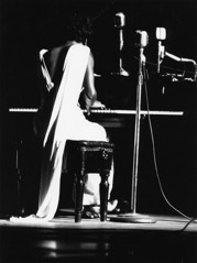 Herb Snitzer  -  Nina Simone, performing, Town Hall, NYC, 1959 / Silver Gelatin Print  -  11 x 14