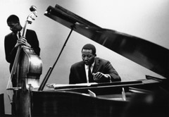 Herb Snitzer  -  Bassist Ron Carter and pianist Randy Weston, NYC, 1961 / Silver Gelatin Print  -  11 x 14