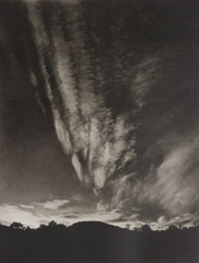 Alfred Stieglitz  -  Mountain and Sky - Lake George  / Photogravure  -