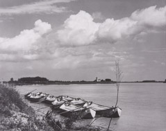 Paul Strand  -  The River Po, Luzzara Italy, 1953 / Silver Gelatin Print  -  8.25 x 7