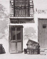 Paul Strand  -  Shop, Le Bacares, Pyrenees Orientales, France, 1950 / Silver Gelatin Print  -  5.5 x 7