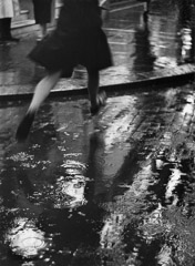 Wolf Suschitzky  -  Charing Cross Road, London, (girl), 1937 / Silver Gelatin Print  -  16 x 20