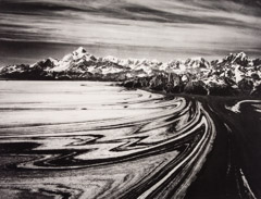 Bradford Washburn  -  Mount Saint Elias from the North West over Malaspina Glacier, 1958 / Photogravure  -  10.5 x 13.5