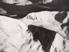Bradford Washburn  -  Peter Pass looking South East, 1964 / Photogravure  -  10.5 x 13.5