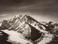 Bradford Washburn  -  Mount McKinley from North East over Muldrow Glacier, 1938 / Photogravure  -  10.5 x 13.5