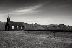 Cara Weston  -  Black Church, Iceland 2016 / Pigment Print  -  Available in Multiple Sizes