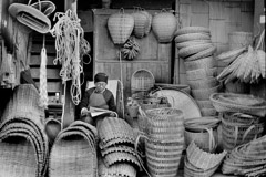 Zeng Yi  -  Basket Seller, 卖篮人, Sichuan Province, 1965  / Pigment Print  -  16x20