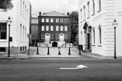 Tim Barnwell  -  2221, Blake Tenement House (center) and old courthouse (right), Charleston, SC * /   -