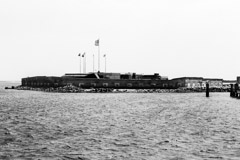 Tim Barnwell  -  2311, Fort Moultrie from river, Charleston, SC /   -