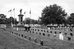 Tim Barnwell  -  2320, Confederate Monument-4 flags/2 canons & graves, Magnolia Cemetery, Charleston, SC /   -