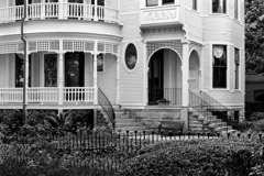 Tim Barnwell  -  2325, College of Charleston, detail of Victorian building (Wilson-Sottile House), SC /   -