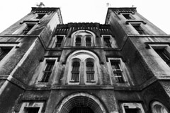 Tim Barnwell  -  2333, Old Jail on Magazine St., front looking up, Charleston, SC /   -