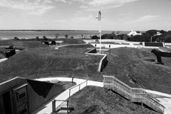 Tim Barnwell  -  2342, Fort Moultrie overview, toward Charleston, SC /   -