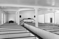 Tim Barnwell  -  2369, Midway Church interior detail, Midway, GA * /   -