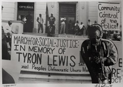 Herb Snitzer  -  Tyron Lewis Protests, 1996, 1997 /   -