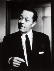 Herb Snitzer  -  Lester Young, Five Spot Café, NYC, 1958 / Silver Gelatin Print  -  11 x 14