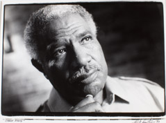 Herb Snitzer  -  Ossie Davis, at his home, New Rochelle, NY, 1990 / Silver Gelatin Print  -