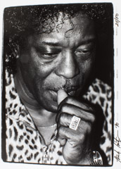 Herb Snitzer  -  Buddy Guy, at his Club, Chicago, 1990 / Silver Gelatin Print  -