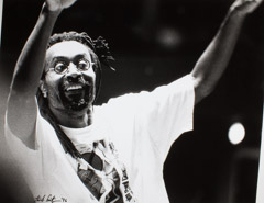 Herb Snitzer  -  Bobby McFerrin, St Petersburg FL,1996 (Fundraising event to save the St Pete Orchestra) / Silver Gelatin Print  -  16 x 20