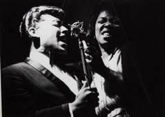 Herb Snitzer  -  O. C. Smith and Sarah Vaughan, Birdland, NYC, 1961 / Silver Gelatin Print  -  framed