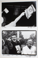 Herb Snitzer  -  60 Years, Celebration, 2008 (top), Face of Hatred, 2002 (below) / Silver Gelatin Print  -  framed