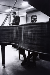 Herb Snitzer  -  Pianist Thelonious Monk & Charlie Rouse, United Nations, NYC, 1960 / Silver Gelatin Print  -  15 x 10